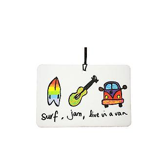 Surf Jam leven In een Van auto luchtverfrisser