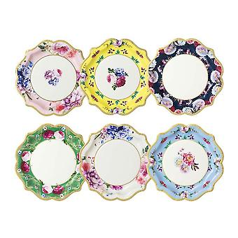 Truly Scrumptious Vintage Floral Paper Party Plates X 12 - Partyware