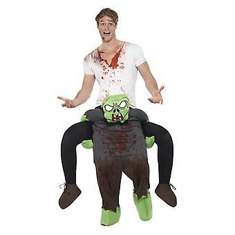 Mens às cavalitas zumbi vestido extravagante de Halloween Costume