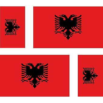 4 X Sticker Sticker Sticker Car Motorcycle Valise Pc Ref22 Flag Albania Albanian