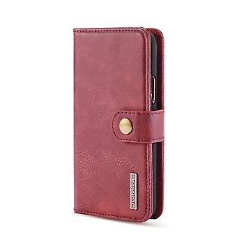 Dg. MING iPhone 11 Pro Split Leather Wallet Case-Burgundy