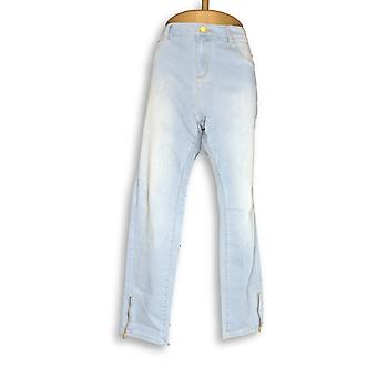 G.I.L.I. got it love it Women's Jeans Washed Ankle Zip Jeans Blue A292766