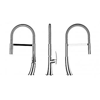 Kitchen Single-lever Sink Mixer With Stainless Steel Springand 2 Jets Shower - 479