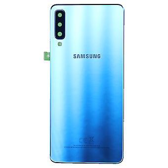 Genuine Samsung Galaxy A7 - SM-A750 - Samsung Service Pack - Back Cover - Blue - GH82-17829D