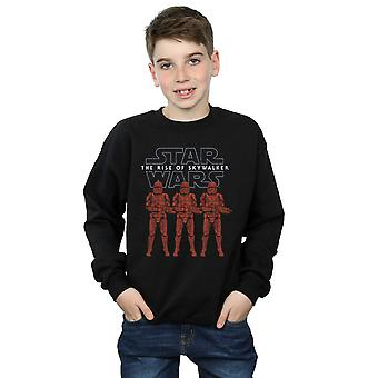 Star Wars Boys The Rise Of Skywalker Stormtrooper Colour Line Up Sweatshirt