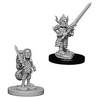 D&D Nolzur's Marvelous Unpainted Miniatures Male Halfling Fighters (Pack of 6)