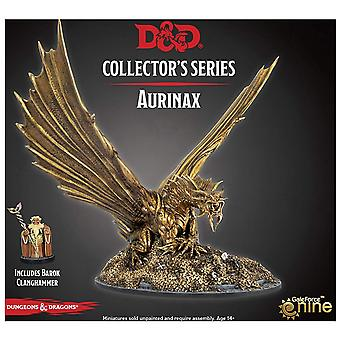 Aurinax the Gold Dragon and Banehammer Dwarf D&D Collector's Series Waterdeep