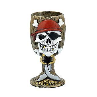 Gobelet en verre à vin Costume Pirate Jack Sparrow capitaine fardée hommes