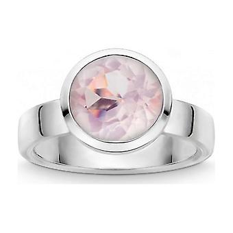 QUINN - Ring - Colors - Silver - Gemstone - Pink Quartz - Width 56 - 21803630