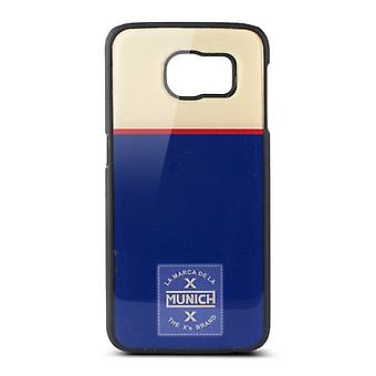 Protection for mobile phone Samsung Galaxy S6 Munich retro line polycarbonate blue white