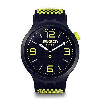 שעוני דוגמית So27n102 גדול מודגש Bbneon צהוב & צי שעונים סיליקון