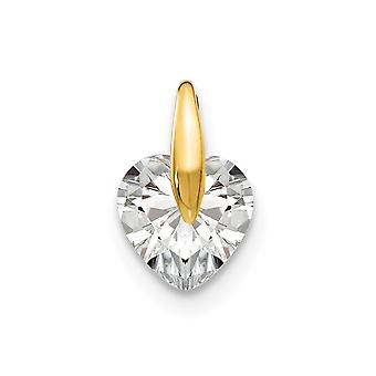 14k Yellow Gold Madi K CZ Cubic Zirconia Simulated Diamond for boys or girls Love Heart Pendant Necklace