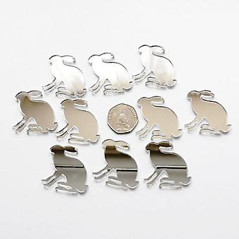 March Hare Mini Craft Sized Acrylic Mirrors (10Pk)