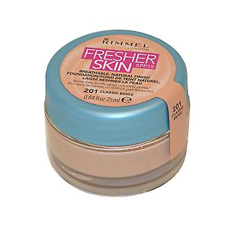Rimmel London Fresher Skin Breathable Natural Finish Foundation 25ml Classic Beige #201 SPF15