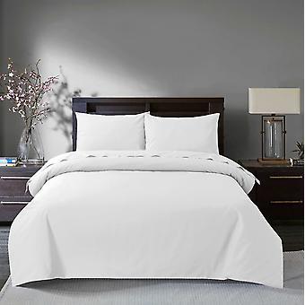 100% egípcio Algodão Duvet Quilt Capa Conjunto cama com fronhas branco - Duplo