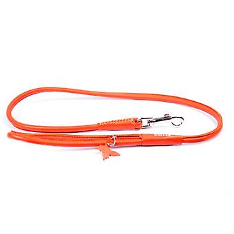Collar Leather Strap  Necklace Glamour  (Width 10mm, Length 122cm) Rosa