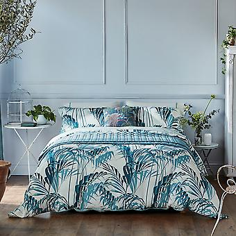 Palm House Designer Bedding And Pillowcase By Sanderson In Eucalyptus