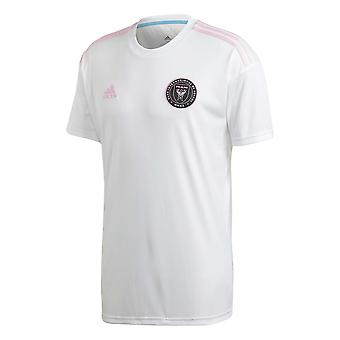 adidas Inter Miami 2020 Mens Short Sleeve Home Calcio Camicia Bianco/Rosa