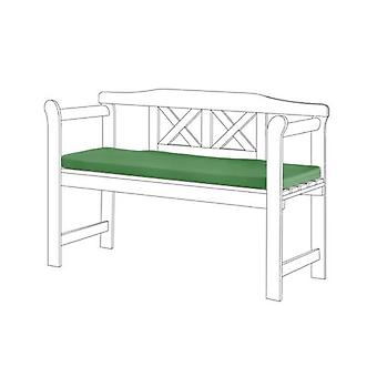 Gardenista Garden Bench Outdoor Pad | Bench Patio Furniture 2 Seater Cushion | Water Resistant Material | Comfortable Durable and Lightweight (Green)