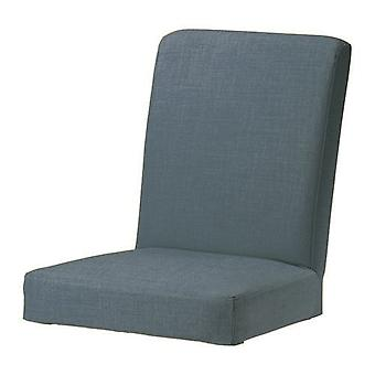 Duck Egg Blue Replacement Slip Cover Henriksdal Dining Chairs in Linen Effect Fabric