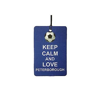Keep Calm And Love Peterborough Car Air Freshener