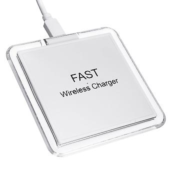 Bakeey 10w snabb qi trådlös laddare ledde ljus pad matta docka ståhållare för iPhone x 8/8plus samsung