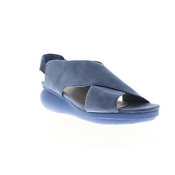 Camper Balloon  Womens Blue Suede Strap Sandals Shoes