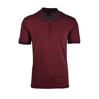 Pal Zileri LAB Pal Zileri Maglia Zip Polo Shirt Burgundy