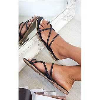 IKRUSH Womens Dillon Strappy Flat Sandals