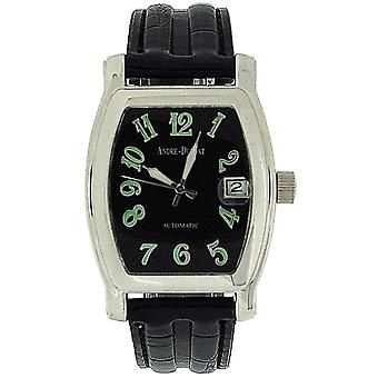 Andre-Dumont Gents Automatic Date Black Crocodile Effect Strap Watch BOXX203