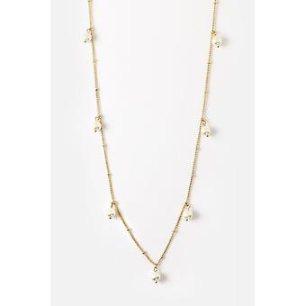 Orelia Jewellery Pearl Drop Station Long Necklace