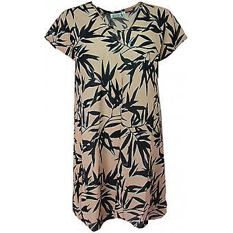 Masai Clothing Van Tropical Leaf Print Tunic