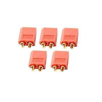YUNIQUE UK 5 Pairs XT60 Male Female Bullet Connectors Plugs For RC Lipo Battery ( Color Red)