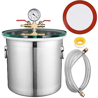 Yescom 5 Gallon Stainless Steel Vacuum Chamber kit to Degass Urethanes Silicones Epoxies