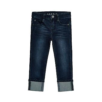 Esprit Boys' Stretch Jeans With Fixed Turn-Up Hems