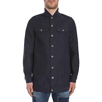 Diesel Black Gold 00svqlbgnja87b Men's Blue Cotton Outerwear Jacket