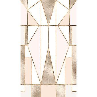 Geometrische Schmetterling 1 Multicolor gedruckt Teppich aus Polyester, Baumwolle, L80xP300 cm