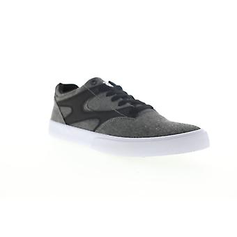 DC Kalis Vulc Mens Gray Canvas Lace Up Skate Sneakers Chaussures