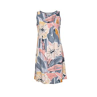 Cyberjammies Hallie 4517 Nők&s Peach Mix Absztrakt Print Nightdress