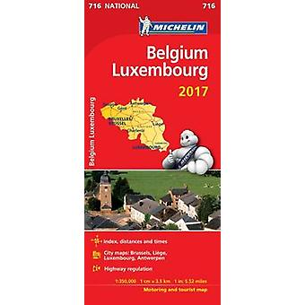 Belgium 2017 amp Luxembourg National Map 716 by Michelin