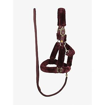 PS of Sweden Ps Of Sweden Fluffy Headcollar & Leadrope Set - Wine