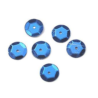 10mm Royal Blue Round Cupped Sequins - 120pk