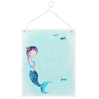 Something Different Mermaid Kisses Metal Wall Plaque