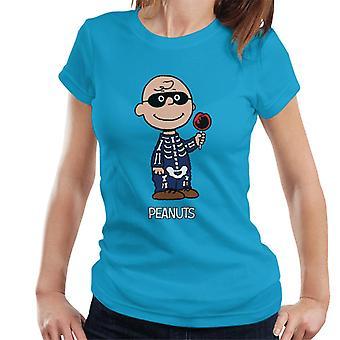 Erdnüsse Halloween Skelett Charlie Brown Frauen's T-Shirt