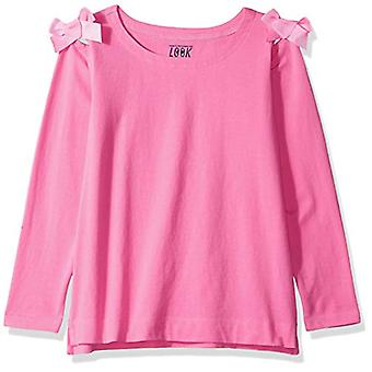 / J. Crew Brand- LOOK by Crewcuts Girls' 3/4 Sleeve Bow Shoulder top, P...