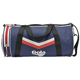 Gola Mitchum Chevron Unisex Shoulder Bag in Navy Red White