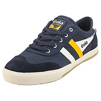 Gola Badminton Mens Casual Trainers in Navy White