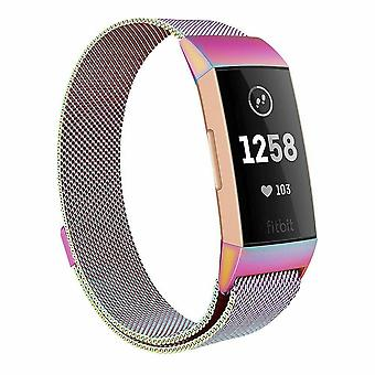 For Fitbit Charge 4 /Charge 3 Strap Milanese Wrist Band Stainless Steel Magnetic[Small (5.3