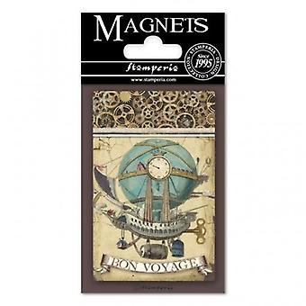 Stamperia Voyages Fantastiques Ballon 8x5.5cm Magnet