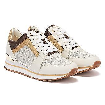 מייקל קורס בילי עור נשים לבן / שיזוף נעלי ספורט